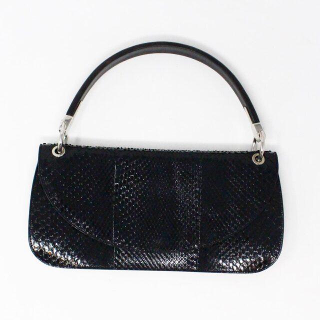 SERGIO ROSSI 31265 Black Leather Clutch 1