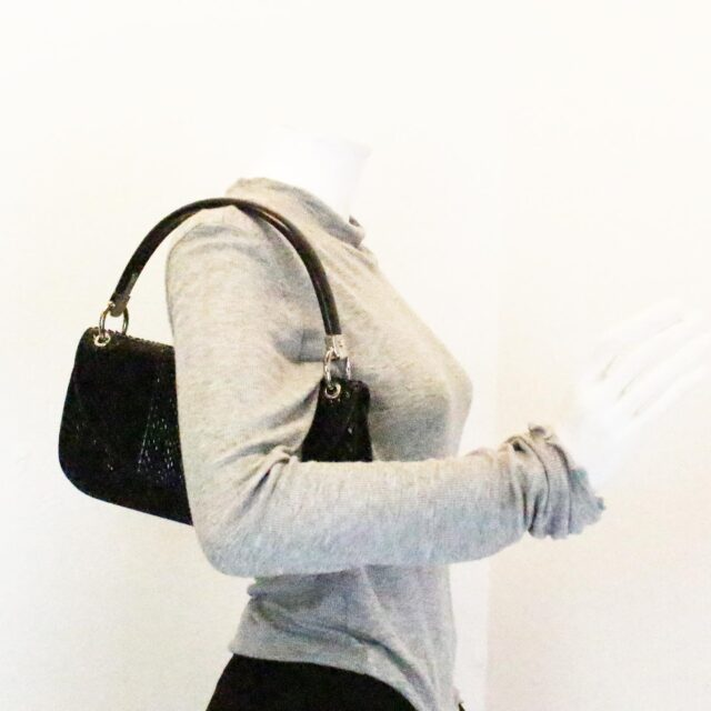 SERGIO ROSSI 31265 Black Leather Clutch 10