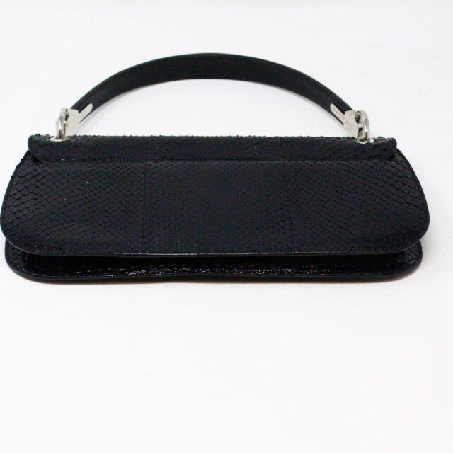 SERGIO ROSSI 31265 Black Leather Clutch 3