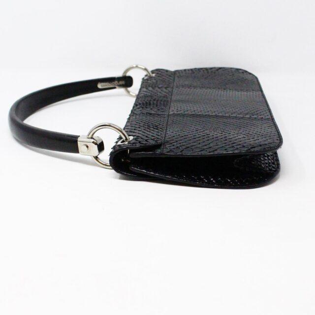 SERGIO ROSSI 31265 Black Leather Clutch 4