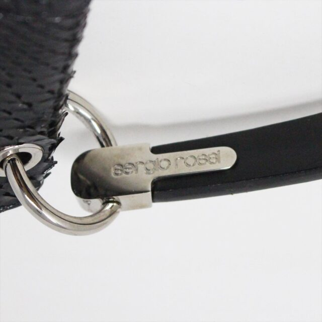 SERGIO ROSSI 31265 Black Leather Clutch 5