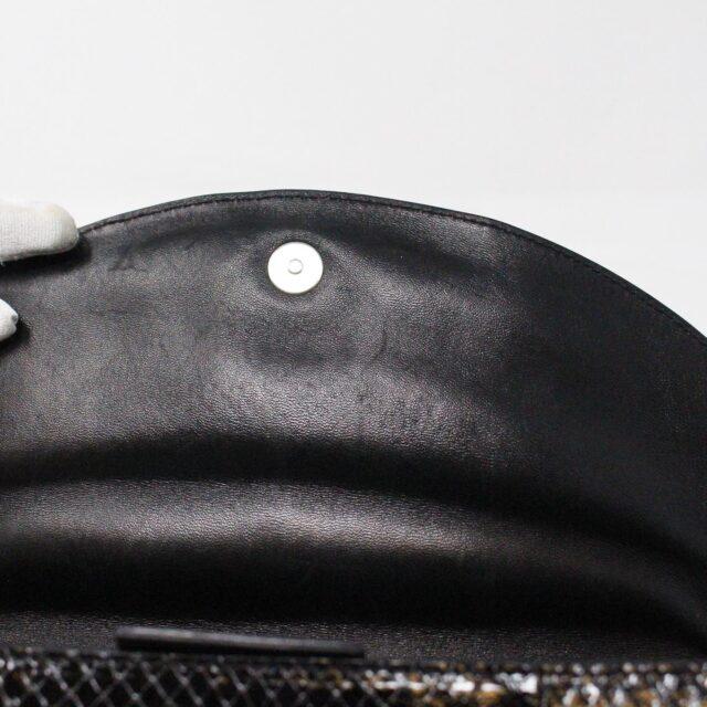 SERGIO ROSSI 31265 Black Leather Clutch 8