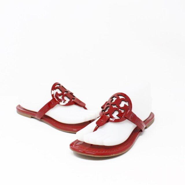 TORY BURCH 31271 Red Burgundy Miller Sandals US 7 EU 37 2