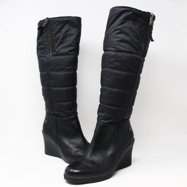 UGG 31351 Black Nylon Long Boots US 7 EU 37 1
