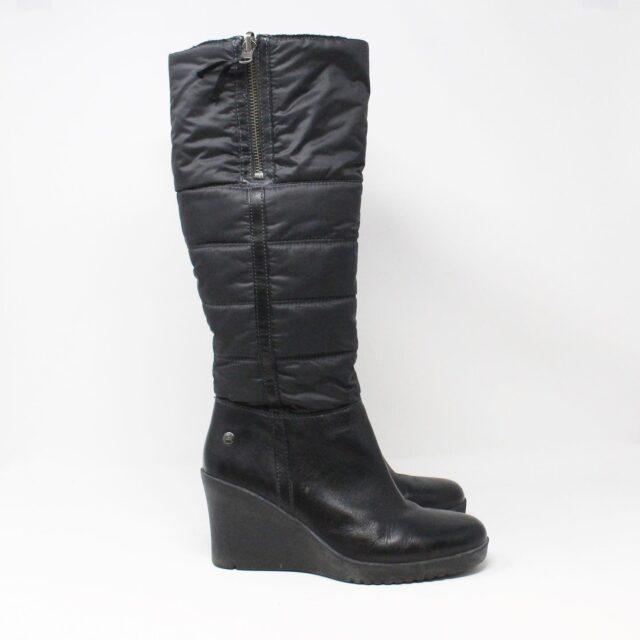 UGG 31351 Black Nylon Long Boots US 7 EU 37 2