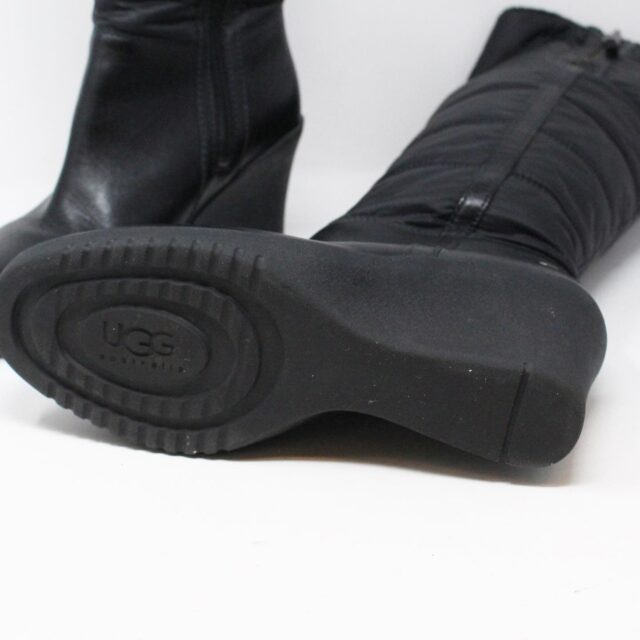 UGG 31351 Black Nylon Long Boots US 7 EU 37 6