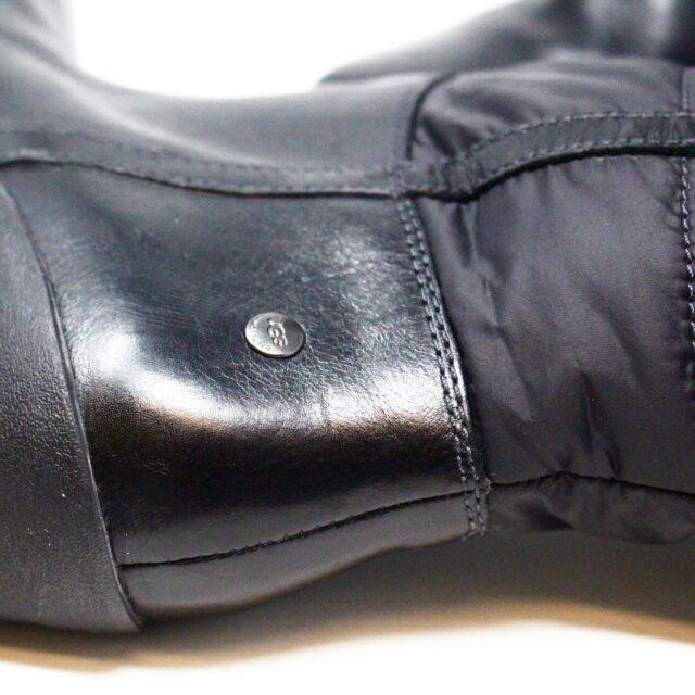 UGG 31351 Black Nylon Long Boots US 7 EU 37 8