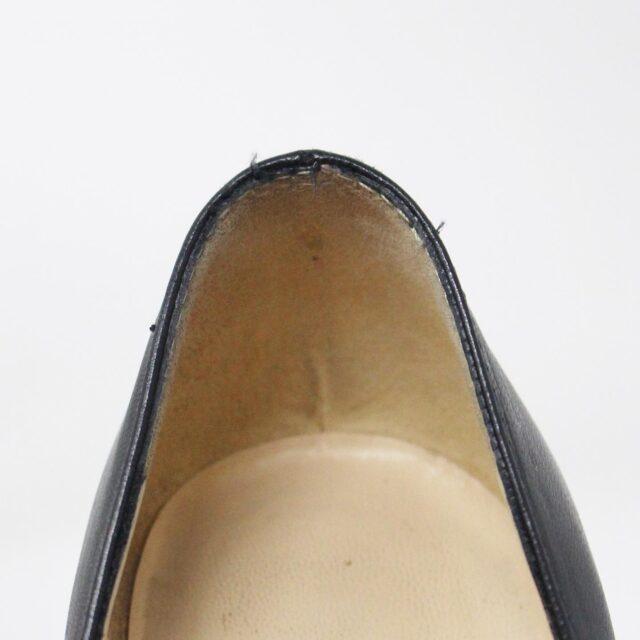CHRISTIAN LOUBOUTIN 31438 Black Leather Burges Platform Heels US 6 EU 36 6