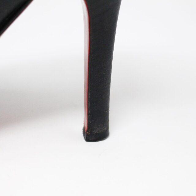CHRISTIAN LOUBOUTIN 31438 Black Leather Burges Platform Heels US 6 EU 36 7