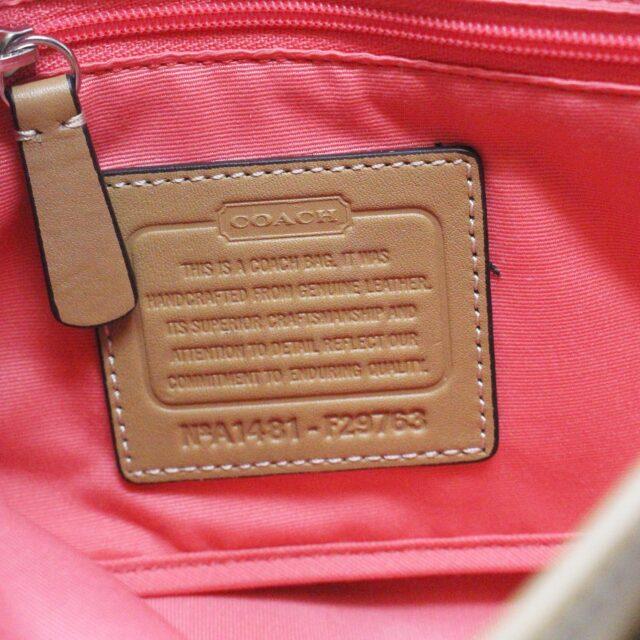 COACH 31546 Tan Leather Crossbody NWT 8