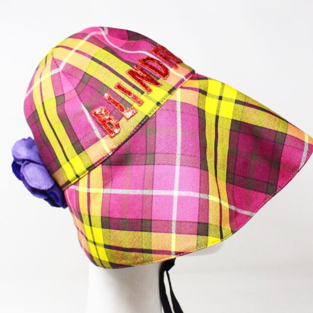 GUCCI 31535 Pink Wool Checker Bucket Hat Special Edition NWT 3