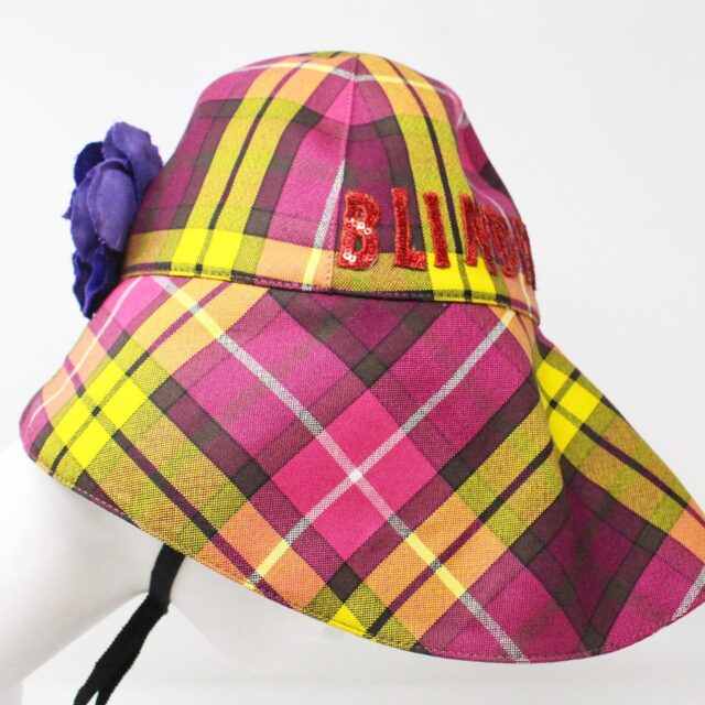 GUCCI 31535 Pink Wool Checker Bucket Hat Special Edition NWT 5