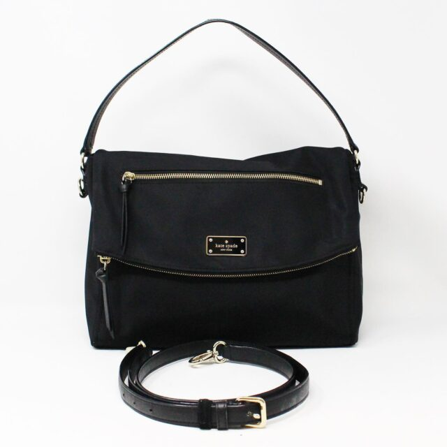 KATE SPADE 31453 Black Nylon Avenue Messenger Bag 1
