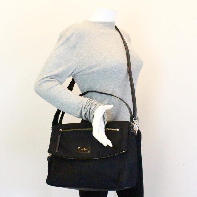 KATE SPADE 31453 Black Nylon Avenue Messenger Bag 10