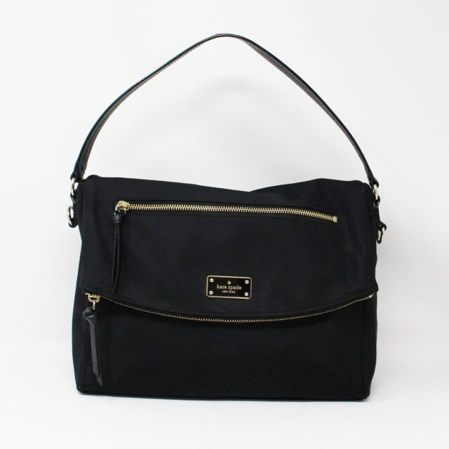 KATE SPADE 31453 Black Nylon Avenue Messenger Bag 2