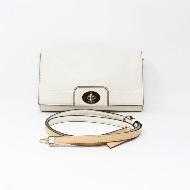 KATE SPADE 31663 White Leather Clutch Crossbody 1