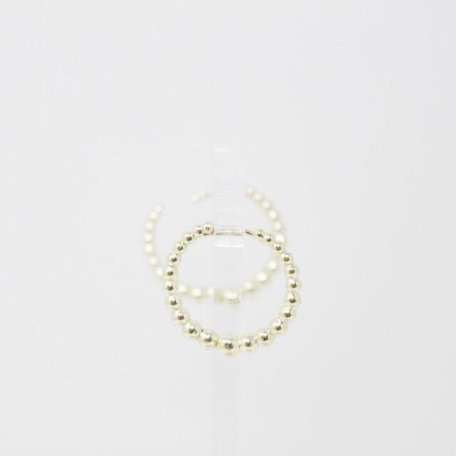 KENDRA SCOTT 31483 Josie Tapered Bead Hoop White Earrings 4