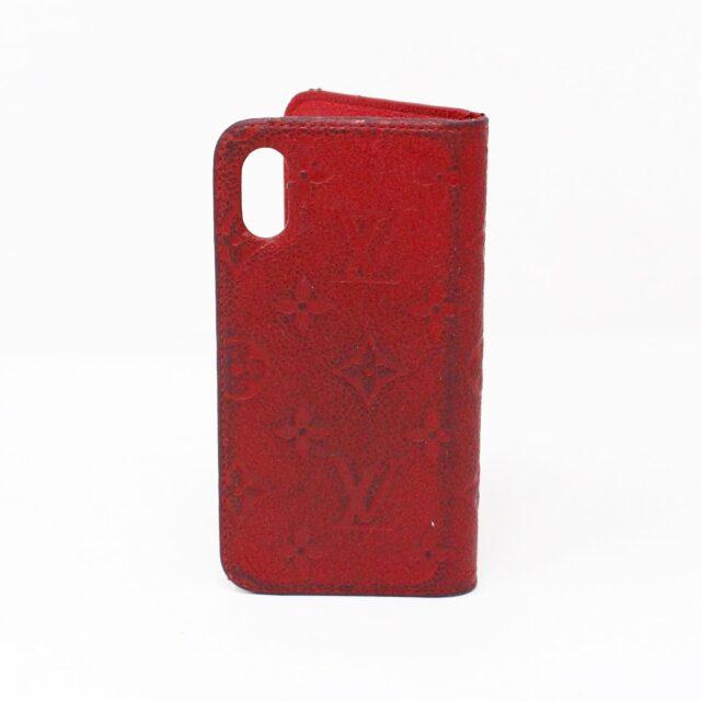 LOUIS VUITTON 31445 Red Empreinte Leather Phone Case iPhone 11 X XS 2