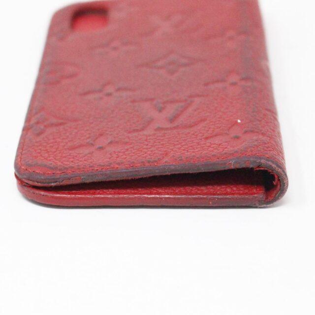 LOUIS VUITTON 31445 Red Empreinte Leather Phone Case iPhone 11 X XS 4