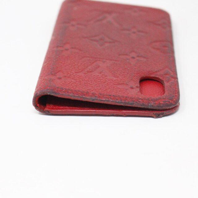 LOUIS VUITTON 31445 Red Empreinte Leather Phone Case iPhone 11 X XS 5