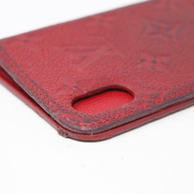 LOUIS VUITTON 31445 Red Empreinte Leather Phone Case iPhone 11 X XS 6