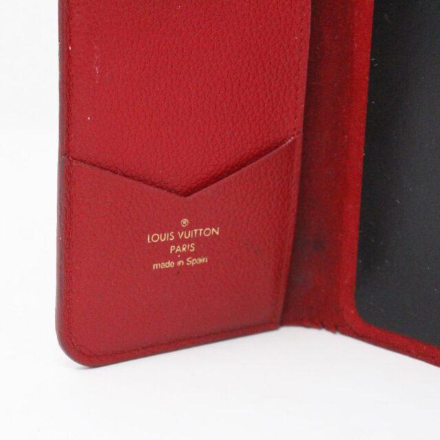 LOUIS VUITTON 31445 Red Empreinte Leather Phone Case iPhone 11 X XS 8