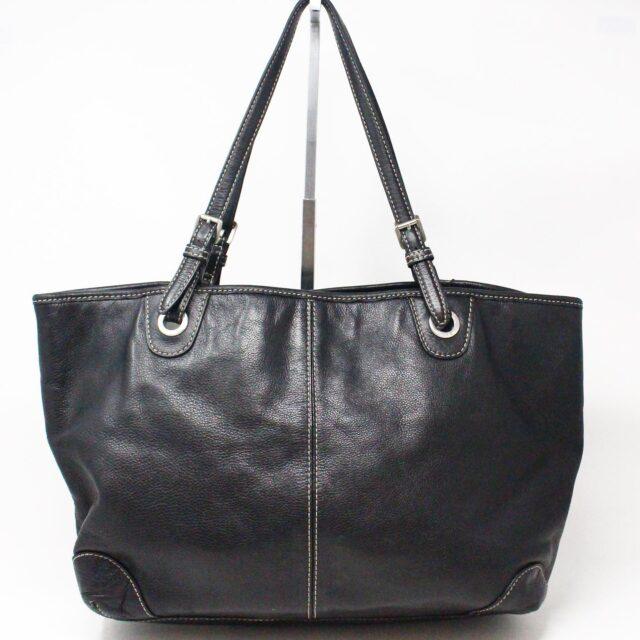 MICHAEL KORS 31545 Black Leather Tote 1
