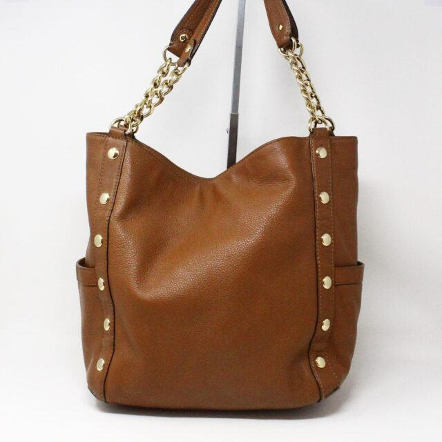 MICHAEL KORS 31556 Brown Leather Tote 2