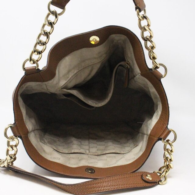 MICHAEL KORS 31556 Brown Leather Tote 6