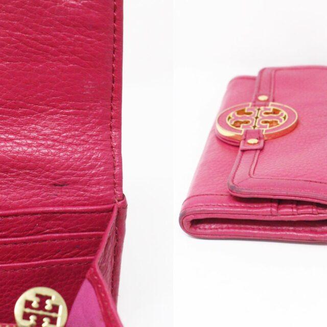 TORY BURCH 31431 Pink Leather Amanda Clutch Crossbody Wallet SET 10