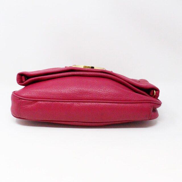 TORY BURCH 31431 Pink Leather Amanda Clutch Crossbody Wallet SET 4