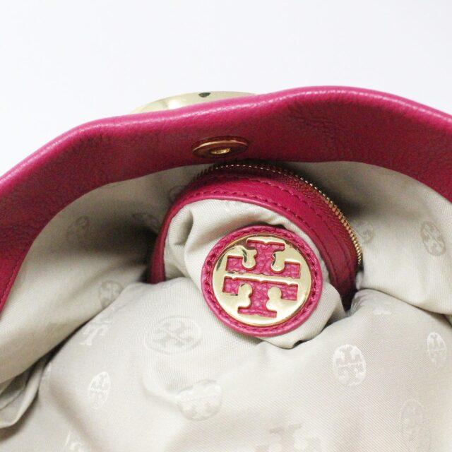 TORY BURCH 31431 Pink Leather Amanda Clutch Crossbody Wallet SET 8