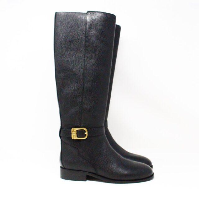 TORY BURCH 31538 Black Leather Brooke 25 mm Long Boots US 8 EU 38 2