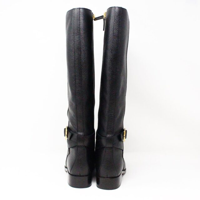 TORY BURCH 31538 Black Leather Brooke 25 mm Long Boots US 8 EU 38 3