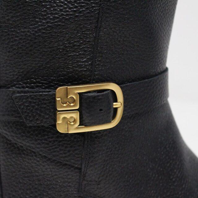 TORY BURCH 31538 Black Leather Brooke 25 mm Long Boots US 8 EU 38 6