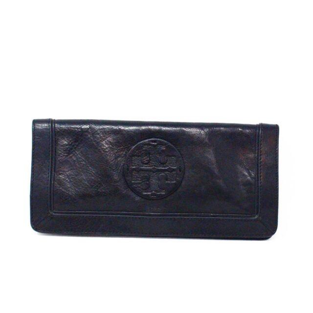 TORY BURCH 31662 Black Leather Wallet Clutch 1