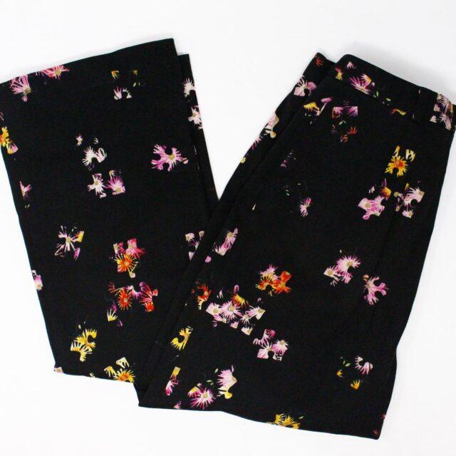 VERSUS VERSACE 31331 Black Floral Slacks Medium US 4 6 1
