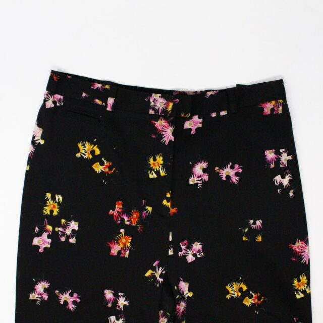 VERSUS VERSACE 31331 Black Floral Slacks Medium US 4 6 2