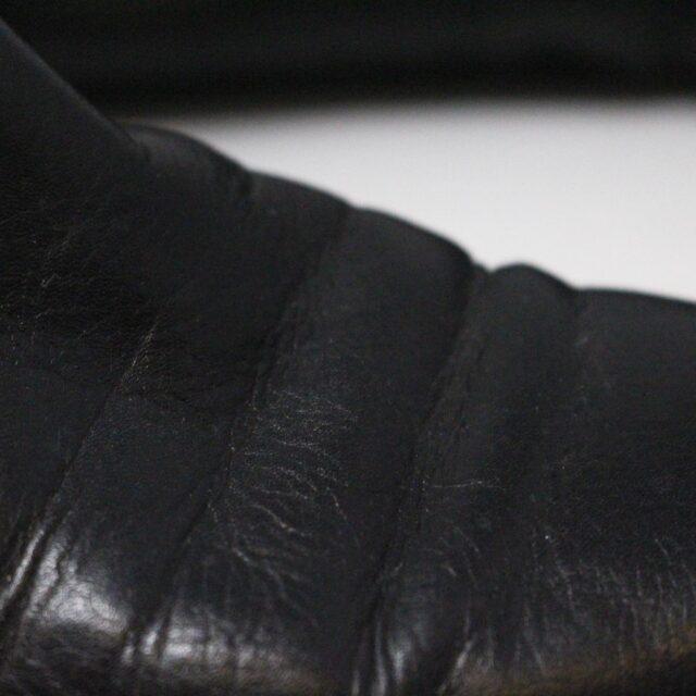 VIA SPIGA 31352 Black Leather Tall Boots US 7.5 EU 37.5 10