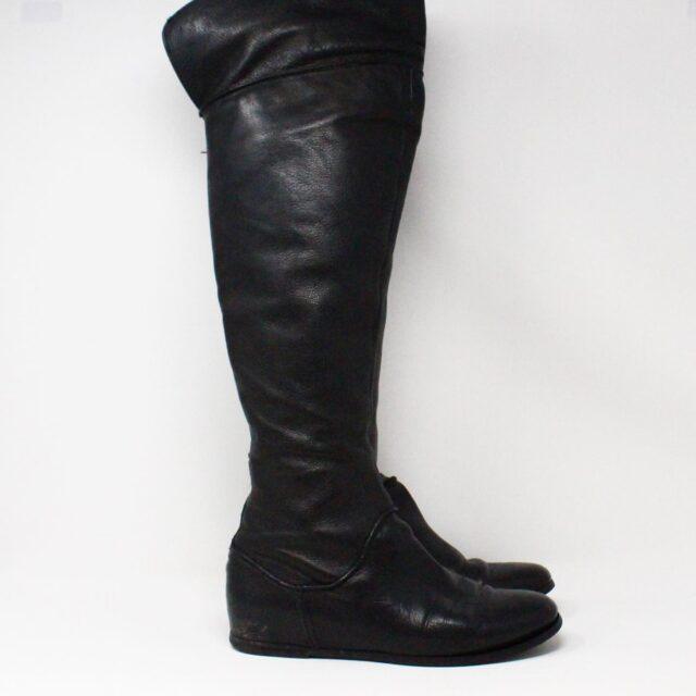 VIA SPIGA 31352 Black Leather Tall Boots US 7.5 EU 37.5 2