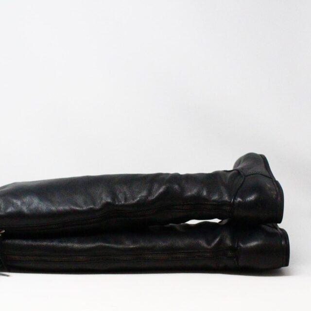 VIA SPIGA 31352 Black Leather Tall Boots US 7.5 EU 37.5 3