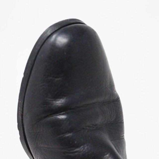 VIA SPIGA 31352 Black Leather Tall Boots US 7.5 EU 37.5 5