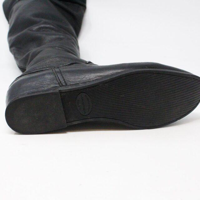 VIA SPIGA 31352 Black Leather Tall Boots US 7.5 EU 37.5 8