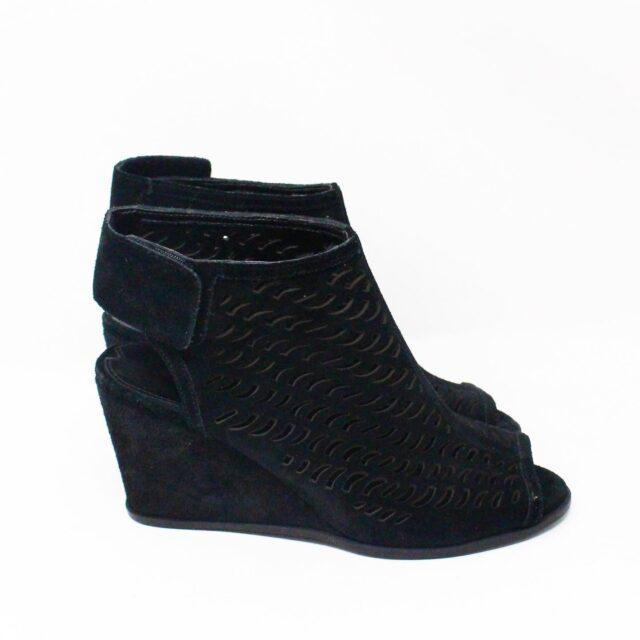 VIA SPIGA 31687 Black Suede Wedges US 6 EU 36 2